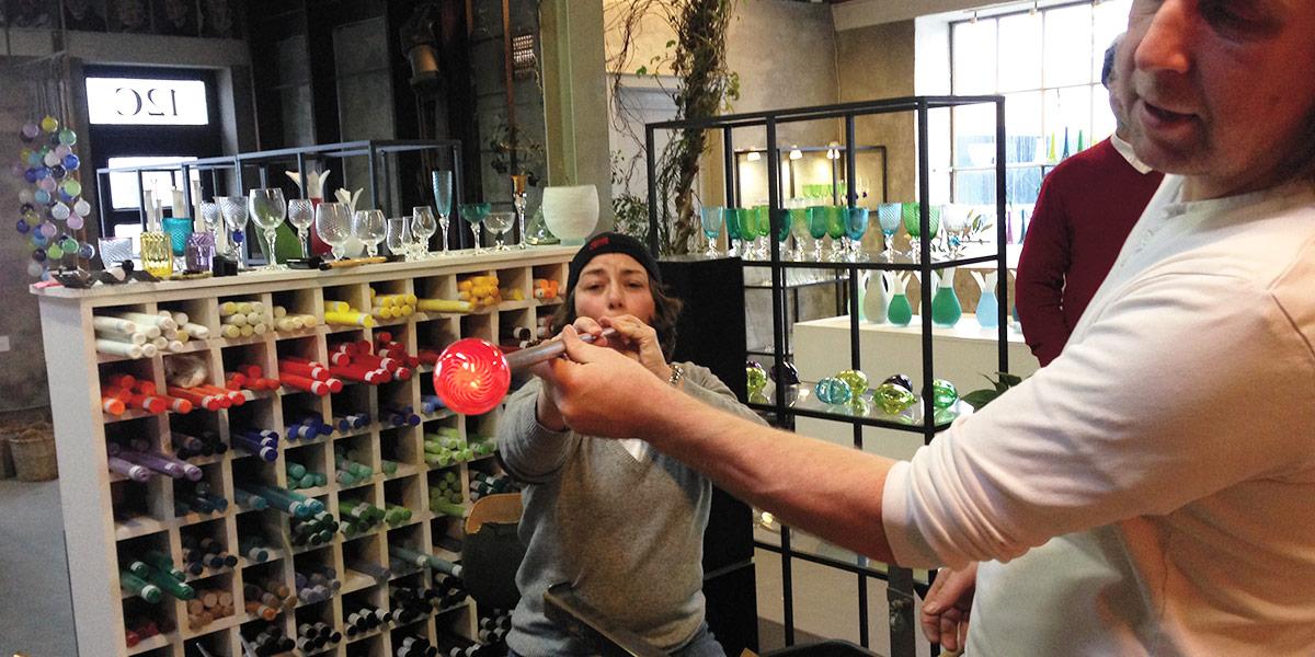 Glassblåsing i Hirtshals