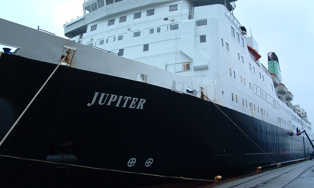 MS Jupiter operated the England line between Newcastle and Western Norway.