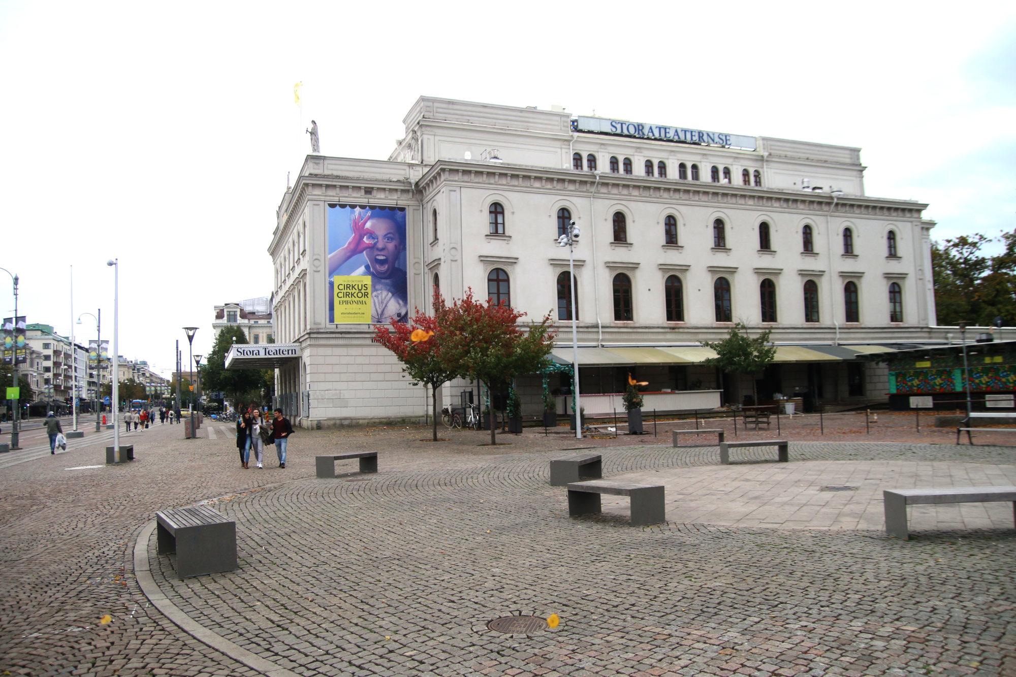 Flust med kulturtilbud. Stora Teatern på den kjente Kungsportavenyen, er bare ett av mange imponerende kulturinstitusjoner i Gøteborg. Foto: Fjord Line