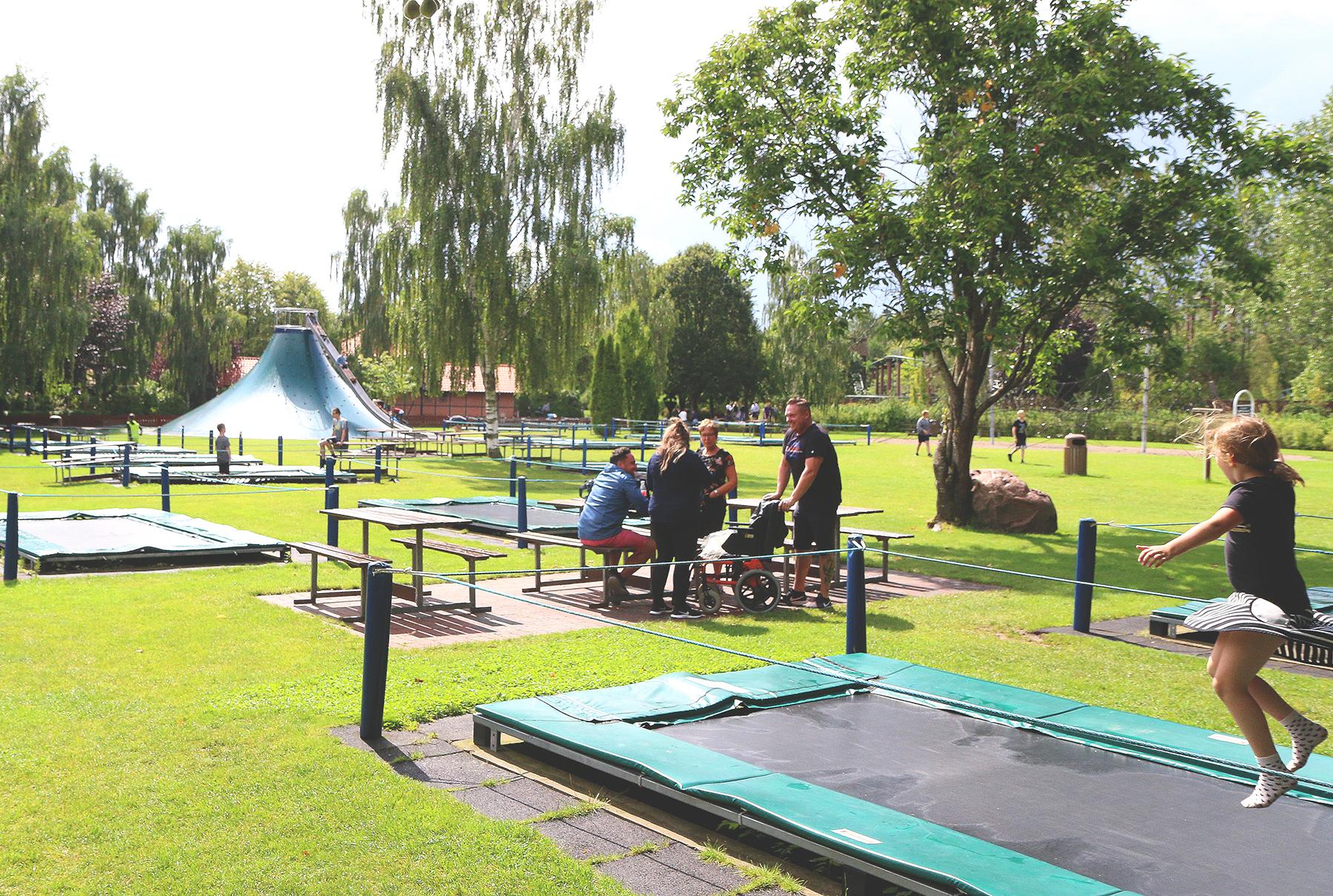 Grønt er skjønt: Én av mange parker i parken. Her kan familien holde piknik, grille og kose seg. Foto: Fjord Line