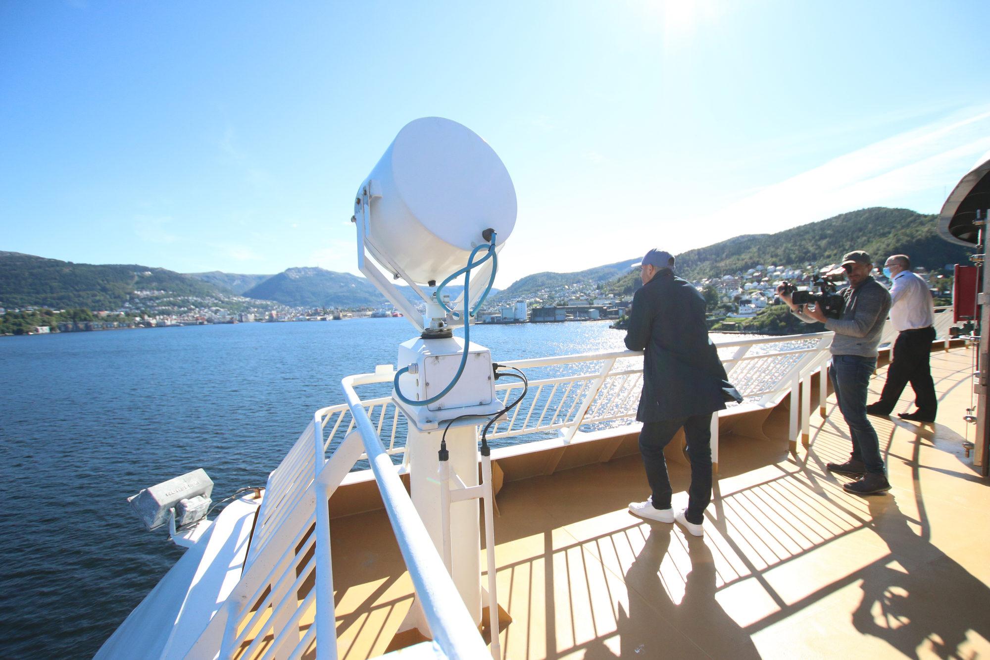 På vei inn til Bergen. Foto: Fjord Line
