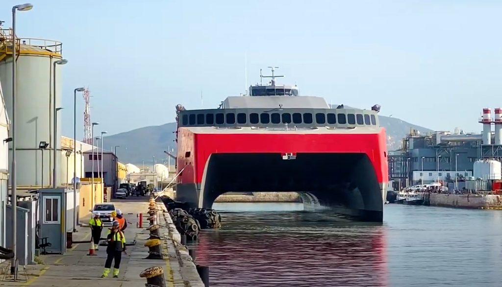 FSTR til kais i Gibraltar. Foto: Skjermdump/Gibraltar Yatching