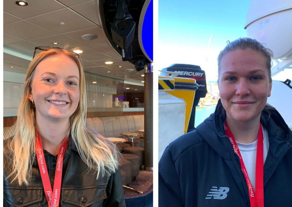 Erfaren møder nyansat. Mathilde Pedersen (til venstre) har været en del af Fjord Line-familien i flere år, mens Mille Lønberg Pedersen er helt ny. Foto: Fjord Line